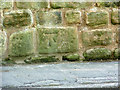 SK4637 : Bench mark, School Lane by Alan Murray-Rust