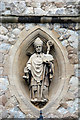 TQ3574 : St Augustine, Honor Oak Park - Statue by John Salmon