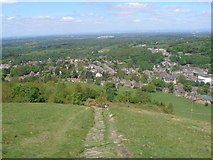 SJ9377 : Steep path from White Nancy towards Bollington by John Slater