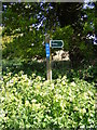 TM4778 : Wood Lane Byway sign by Adrian Cable
