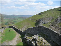 SK1482 : Castleton: view east from the castle by Chris Downer
