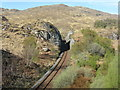 NM7482 : Railway cutting near Polnish by M J Richardson