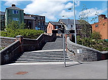 ST1599 : Steps up to High Street, Bargoed by Jaggery