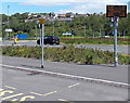 ST1599 : Train departure display board near the bus station, Bargoed by Jaggery