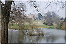TR0653 : Chilham Castle and lake by N Chadwick