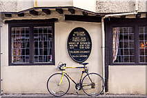 SP0202 : Bicycle outside William H. Stokes, Cirencester, Gloucestershire by Christine Matthews
