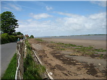 NY2262 : The Hadrian's Wall Path approaching Bowness-on-Solway by David Purchase