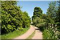 NZ0812 : Lane east of minor road by Trevor Littlewood