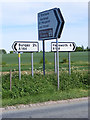 TM3686 : Roadsigns on the A144 Halesworth Road by Adrian Cable