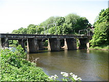 NY3857 : Railway bridges over the River Eden in Carlisle by David Purchase