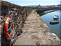 NT6879 : Coastal East Lothian : On The Old Harbour Wall, Cromwell Harbour, Dunbar by Richard West