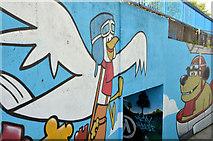 J4073 : Mural, Tullycarnet, Dundonald (2) by Albert Bridge