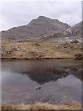 NM8995 : Lochan on Druim nan Uadhag by Sally