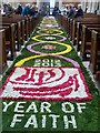 TQ0107 : Arundel Cathedral: Nave flower carpet by Rob Farrow