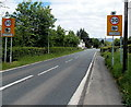 SO1238 : Start of the 30mph zone in Llyswen by Jaggery