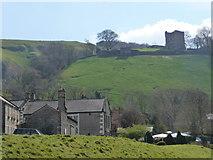 SK1482 : Castleton: Peveril Castle from across the village by Chris Downer