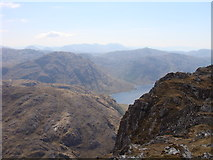 NM8893 : View southwest from Bidein a' Chabair by Sally