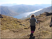 NM8893 : On the Sgurr na h-Aide ridge by Sally