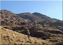 NM8893 : Northern crags of Sgurr na h-Aide by Sally