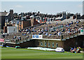 TA0389 : Scarborough: cricket fans and chimney pots by John Sutton