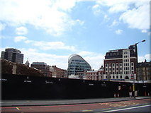 TQ2879 : View of The Peak from Buckingham Palace Road by Robert Lamb