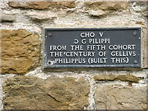NY6266 : Plaque at Willowford Farm by David Purchase