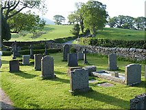 SD6382 : A corner of the churchyard, St Bartholomew's, Barbon by Oliver Dixon