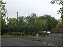 SO9975 : Roundabout at foot of Rose Hill, Lickey by David Smith