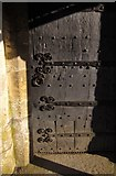 ST4347 : Door detail, St Mary's Church, Wedmore by Derek Harper