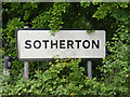 TM4178 : Sotherton Village Name sign by Adrian Cable