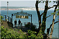 SZ5881 : Shanklin Chine - View Towards Culver Cliff by Peter Trimming