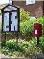 SU0205 : Gaunt's Common: postbox № BH21 14 and noticeboard by Chris Downer