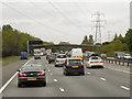 SJ7374 : Footbridge over Northbound M6, Lower Peover by David Dixon