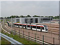 NT1772 : Tram on test by Alan Murray-Rust