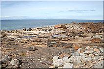 NJ1570 : New Red Sandstone by Anne Burgess