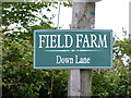 TM4882 : Field Farm sign by Adrian Cable