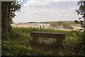 SU5918 : Memorial Seat on Peak Down by Peter Facey