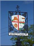 TQ6159 : Close up of Wrotham Village sign by Marathon