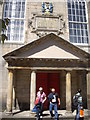 NT2673 : The portico of Canongate Kirk by Stanley Howe