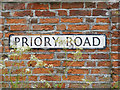 TM4982 : Priory Road sign by Adrian Cable