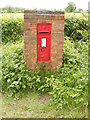 TM4884 : Savage Wood Victorian Postbox by Geographer