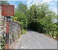 SO2213 : Rusty old road sign, Clydach by Jaggery