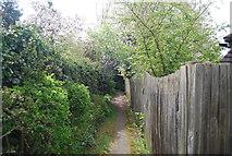 TQ6668 : Footpath off Saracens Close by N Chadwick