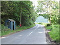 NT4226 : Seasonal bus-stop by Colin's Plantation by Barbara Carr