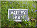 TM4686 : Valley Farm sign by Adrian Cable
