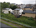 SO2104 : South side of B&B Garage, Abertillery by Jaggery
