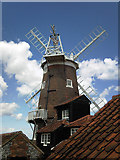 TG0444 : Cley Windmill from the south by Adrian S Pye