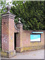 TM3876 : Entrance to Highfield Residential Home by Adrian Cable