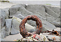 J5979 : Rusty mooring ring, Donaghadee by Albert Bridge