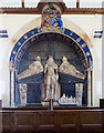 SS6811 : All Saints church, Eggesford - monument to Arthur, Viscount Chichester by Mike Searle